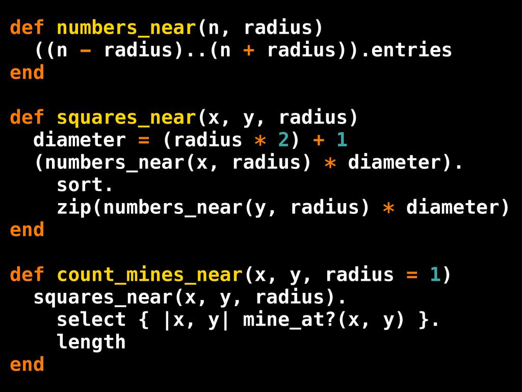 def numbers_near(n, radius) ((n - radius)..(n +...