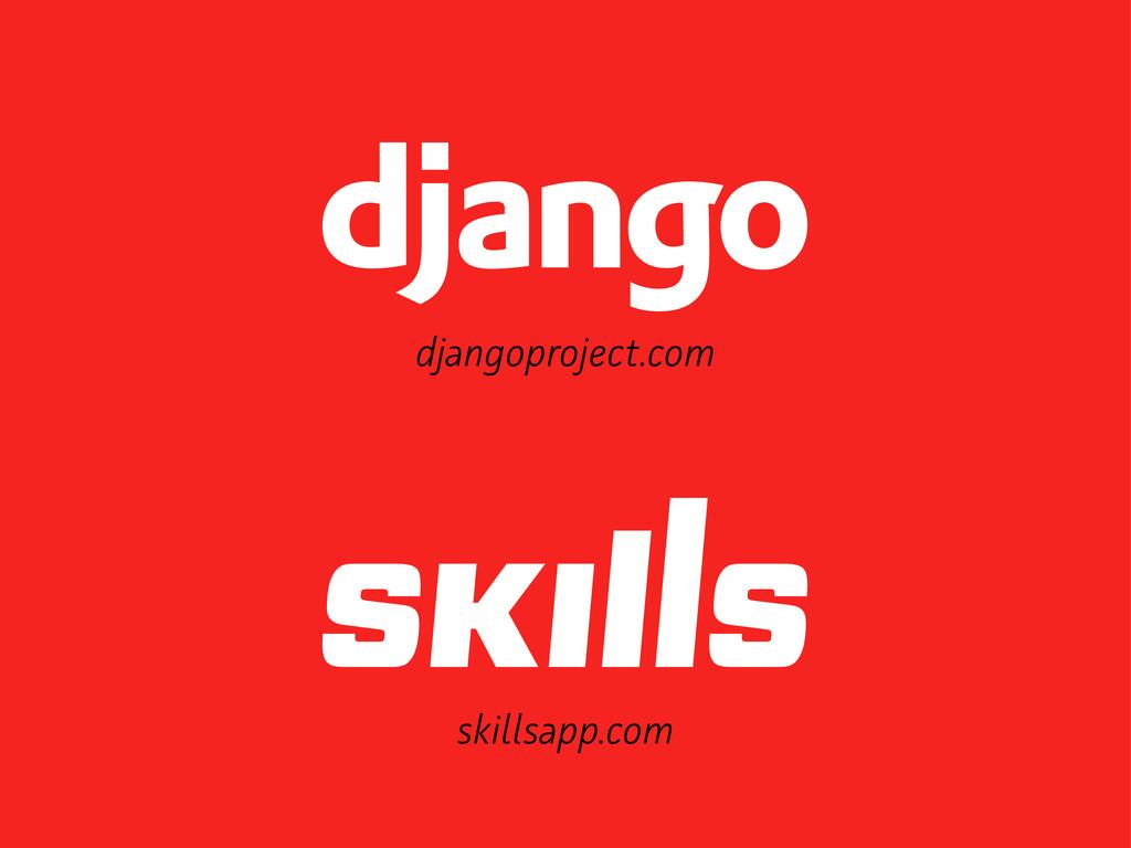 djangoproject.com skilsapp.com