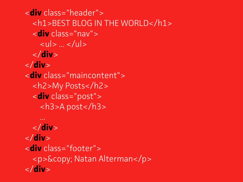 "<div class=""header""> <h1>BEST BLOG IN THE WORLD..."