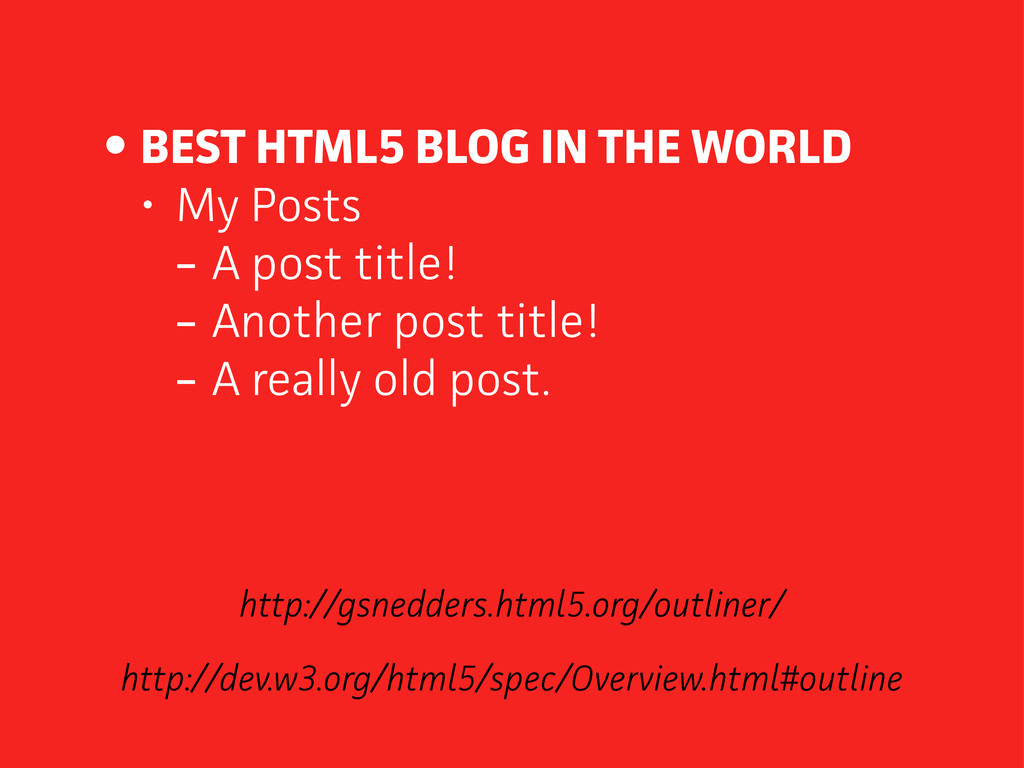 • BEST HTML5 BLOG IN THE WORLD • My Posts - A p...