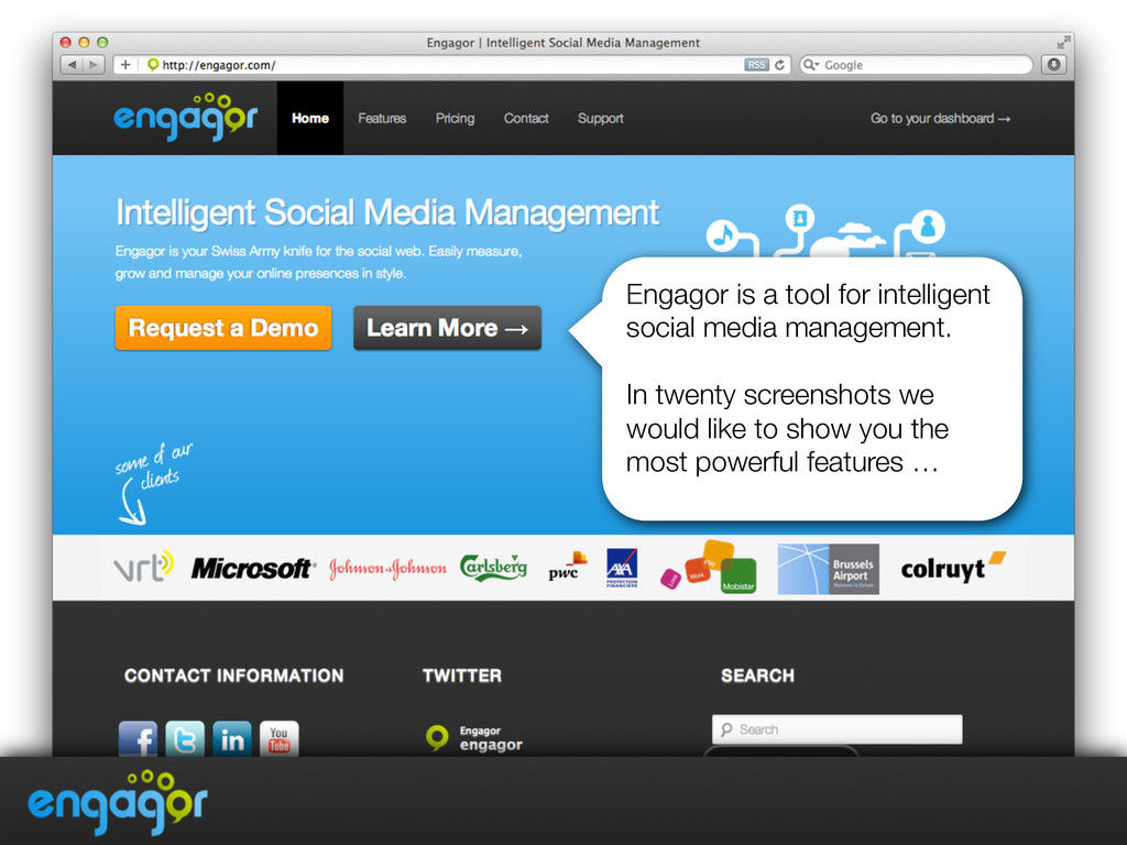 Engagor is a tool for intelligent social media ...
