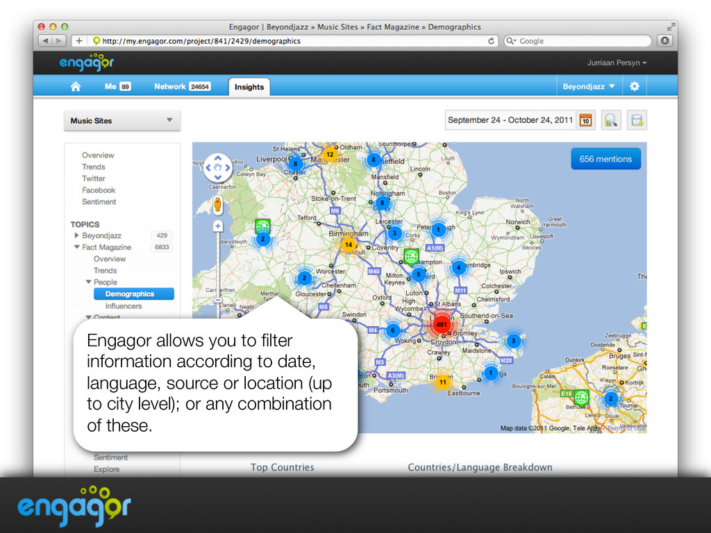 Engagor allows you to filter information accordi...