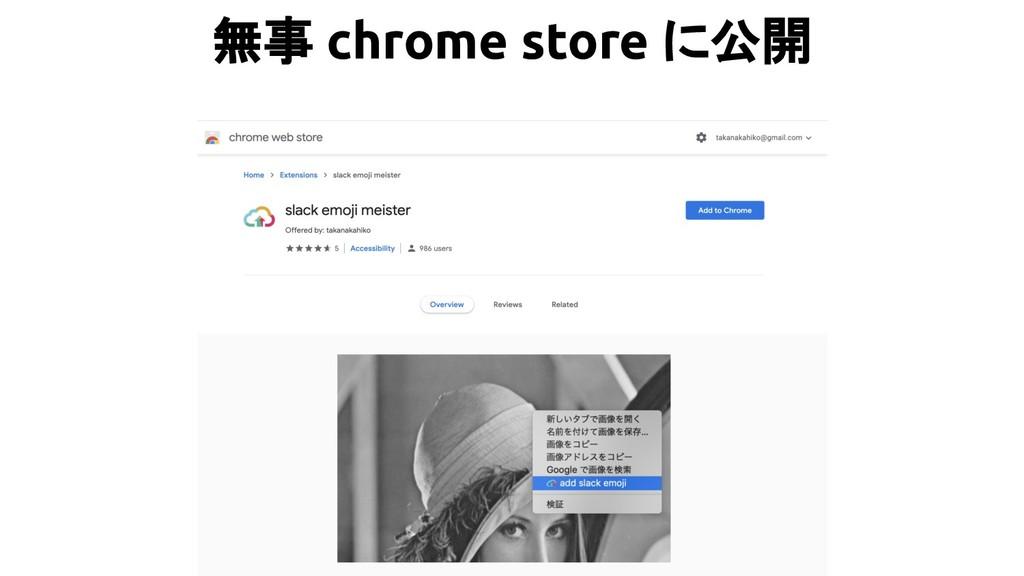 無事 chrome store に公開