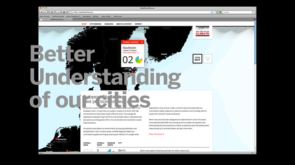 Better Understanding of our cities