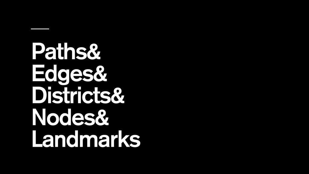 Paths& Edges& Districts& Nodes& Landmarks