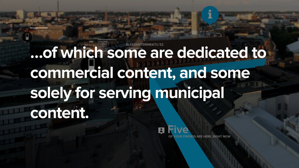 …of which some are dedicated to commercial cont...