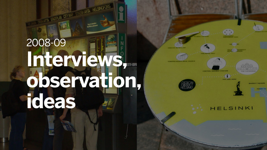 2008-09 Interviews, observation, ideas