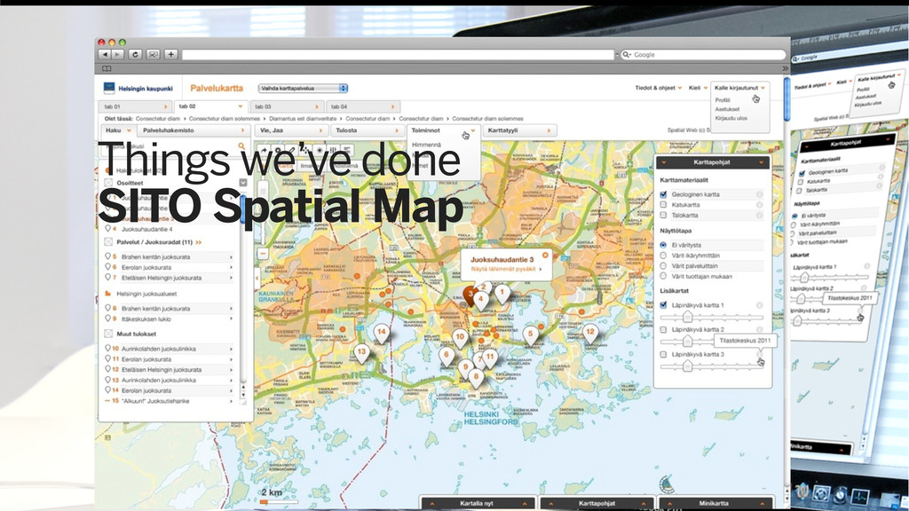 Things we've done SITO Spatial Map