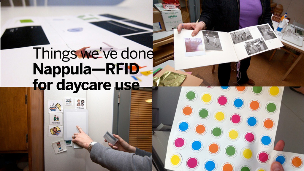 Things we've done Nappula—RFID for daycare use