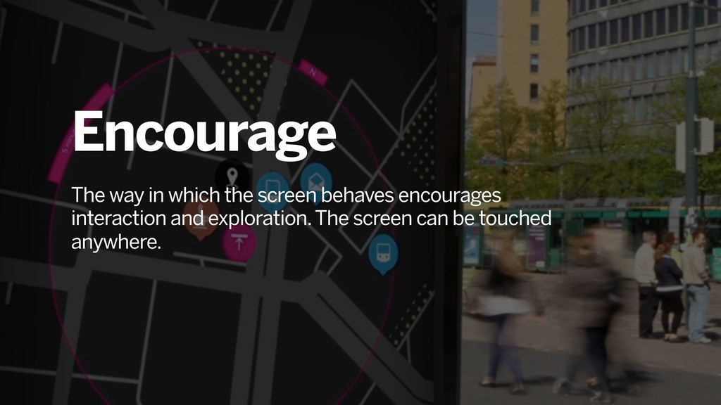 Encourage The way in which the screen behaves e...
