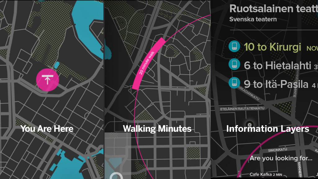 You Are Here Walking Minutes Information Layers