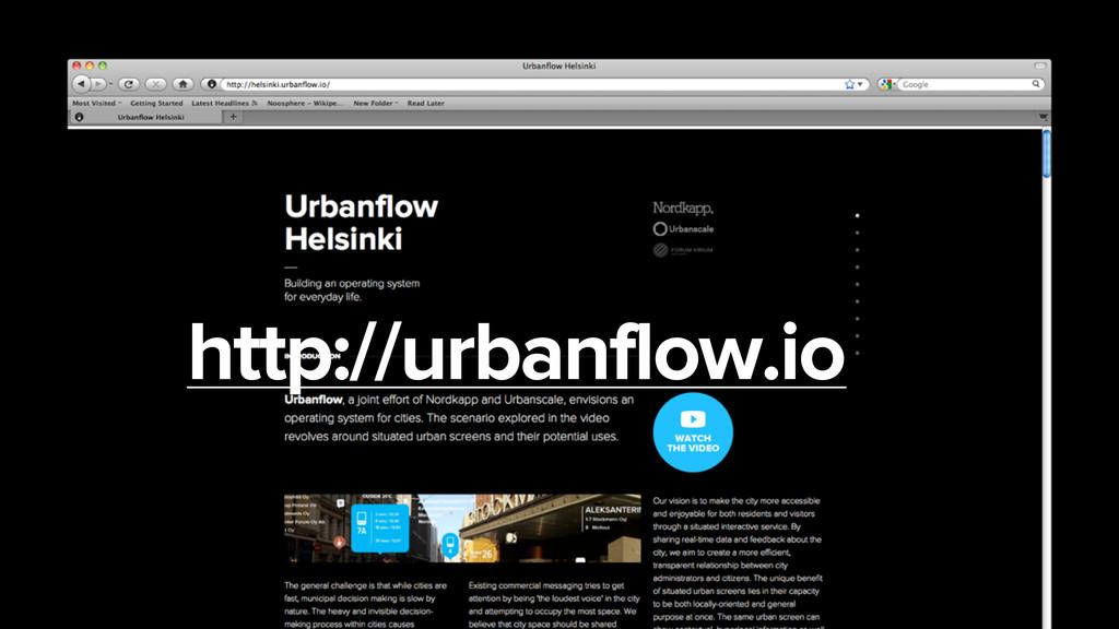 http://urbanflow.io