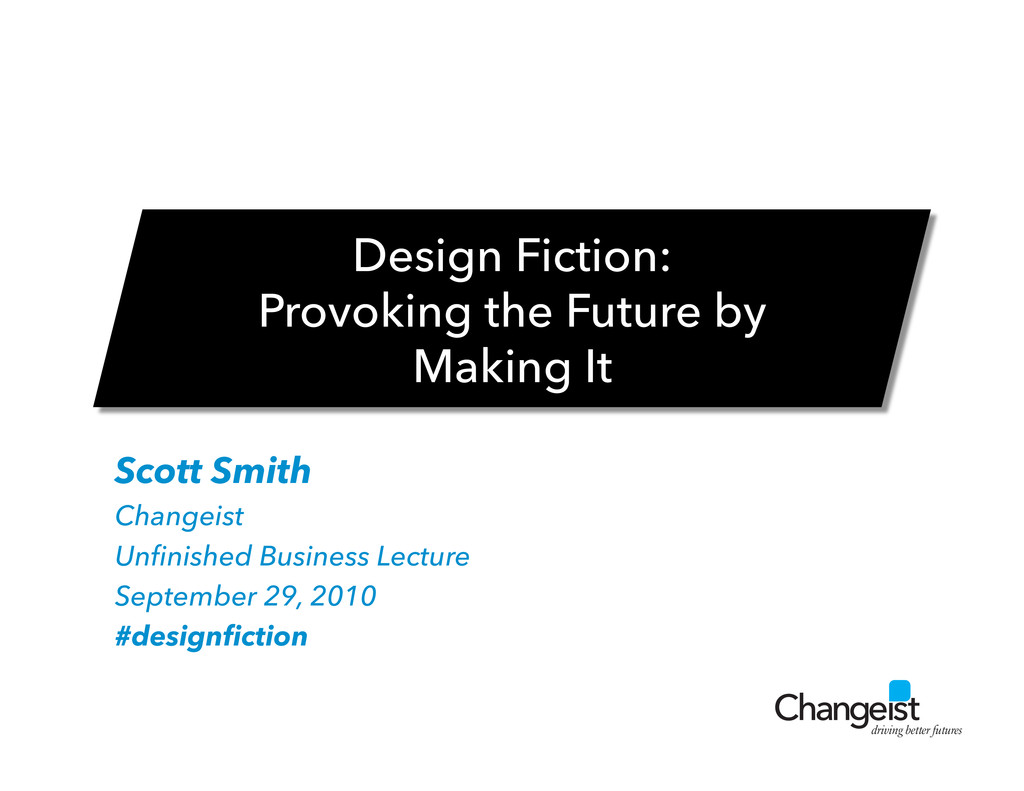 driving better futures Scott Smith