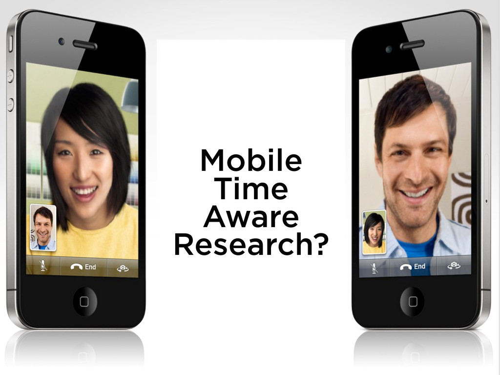 Mobile Time Aware Research?