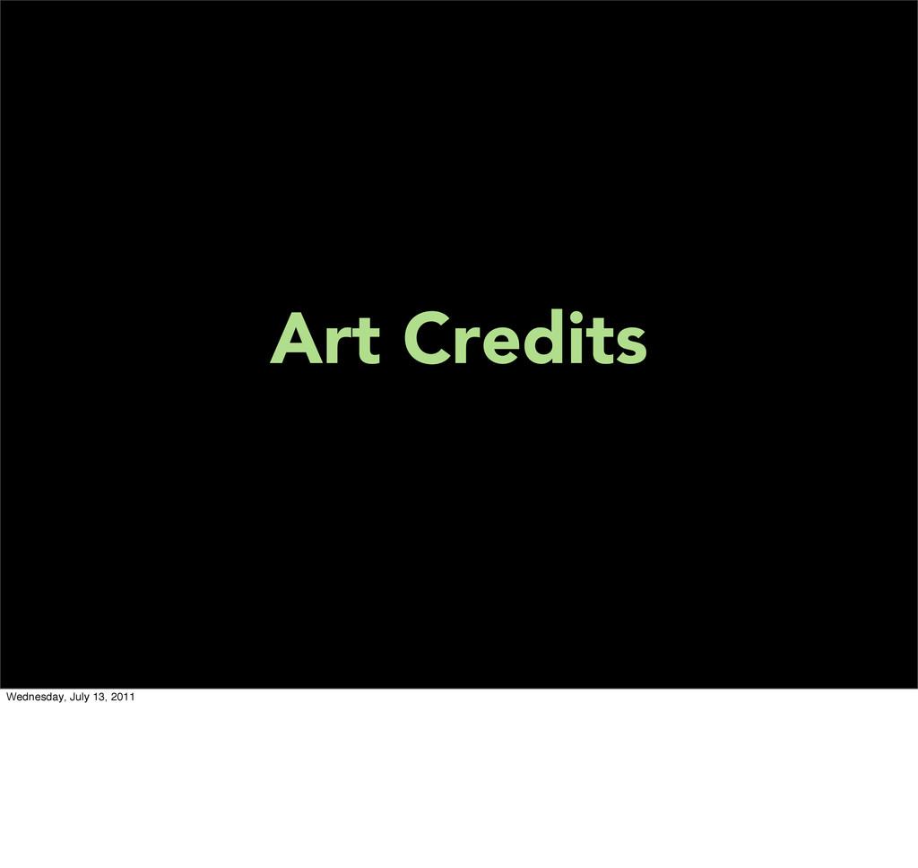 Art Credits Wednesday, July 13, 2011