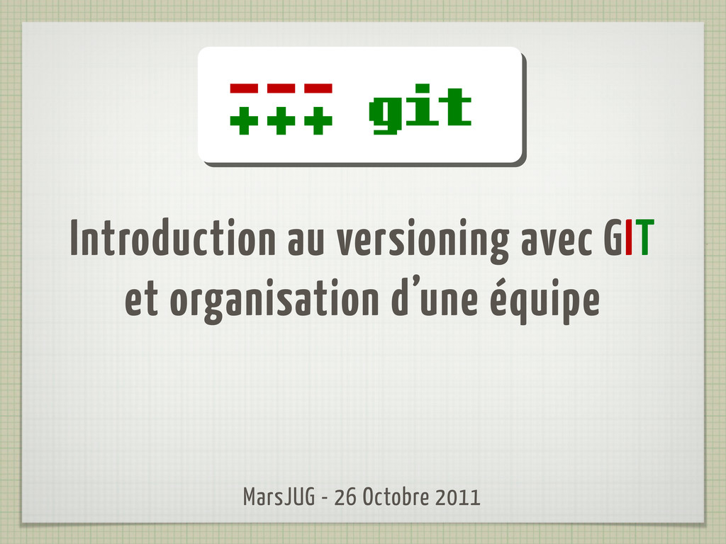 Introduction au versioning avec GIT et organisa...