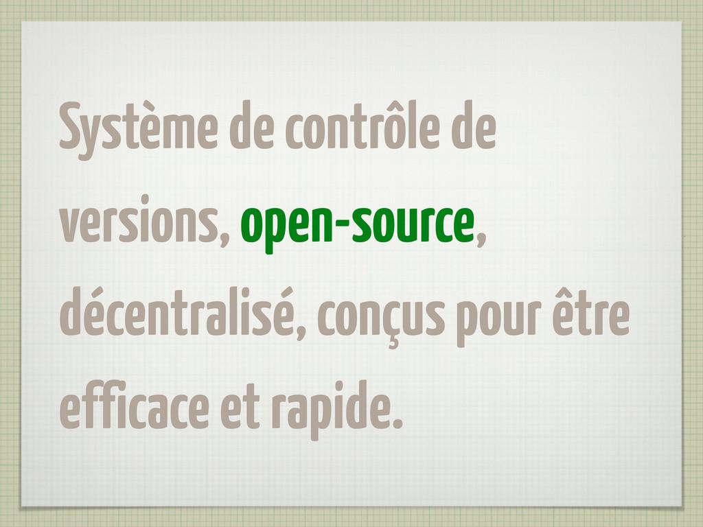 Système de contrôle de versions, open-source, d...