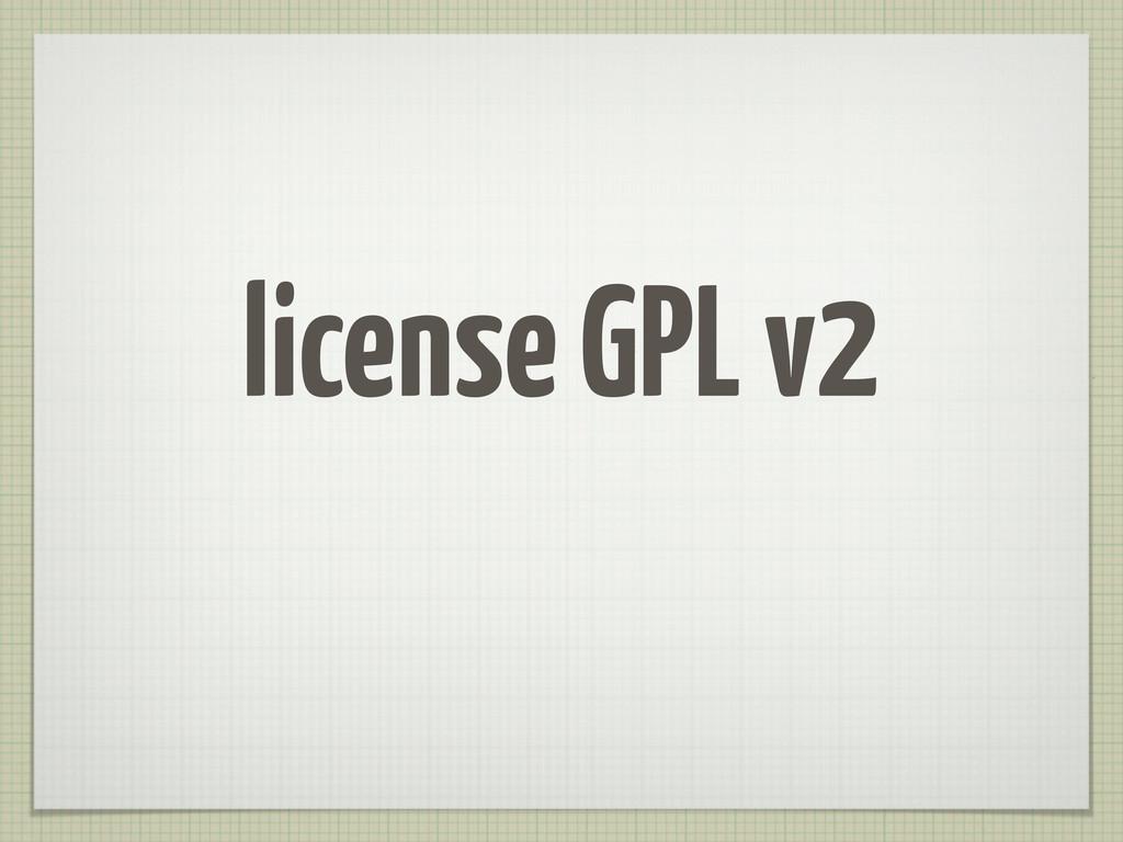 license GPL v2