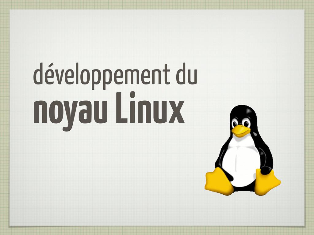 développement du noyau Linux