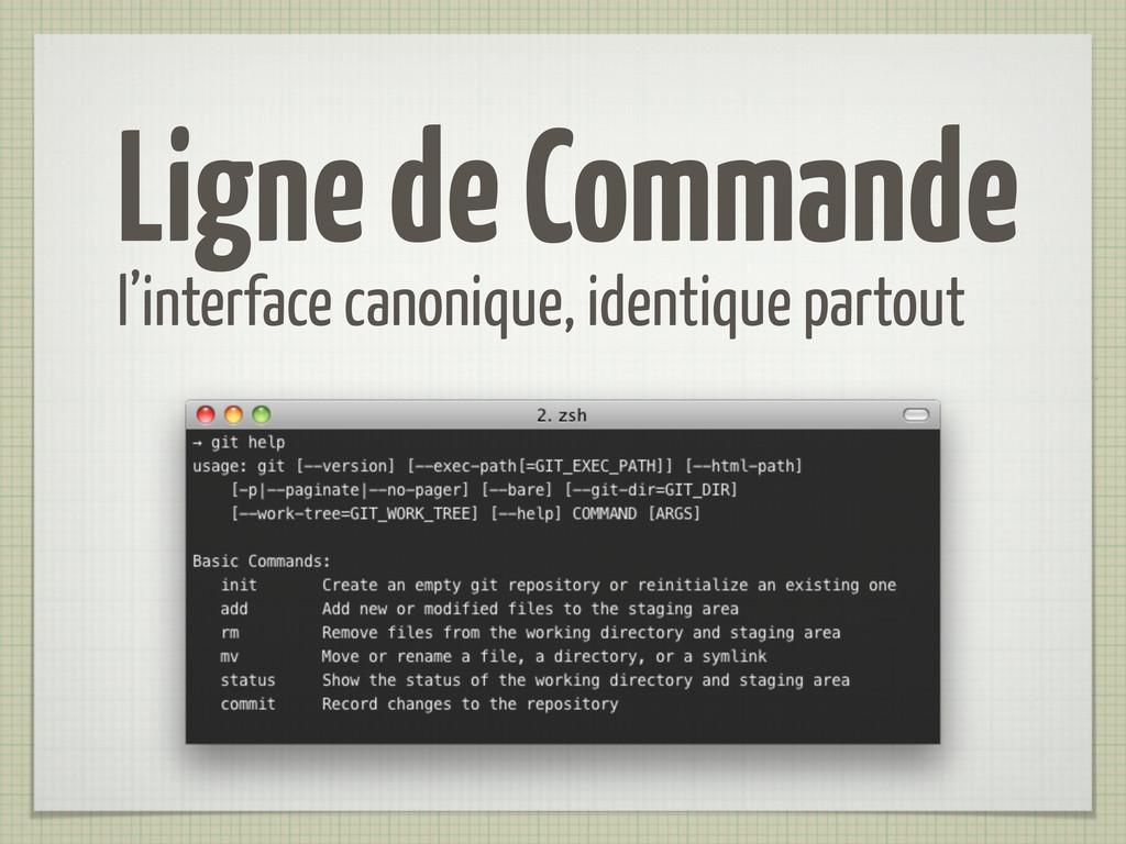 Ligne de Commande l'interface canonique, identi...