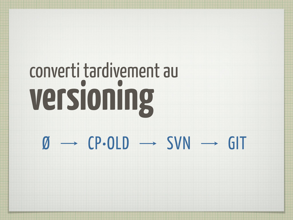 converti tardivement au versioning CP•OLD SVN G...