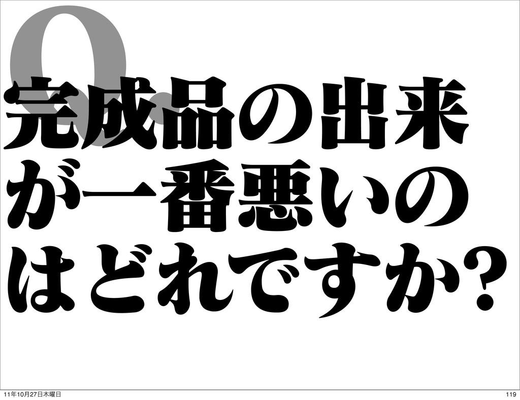 2 ͷग़དྷ ͕Ұ൪ѱ͍ͷ ͲΕͰ͔͢ 119 1110݄27༵