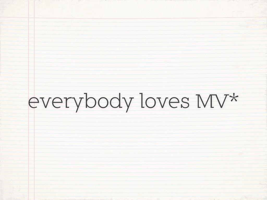 everybody loves MV*