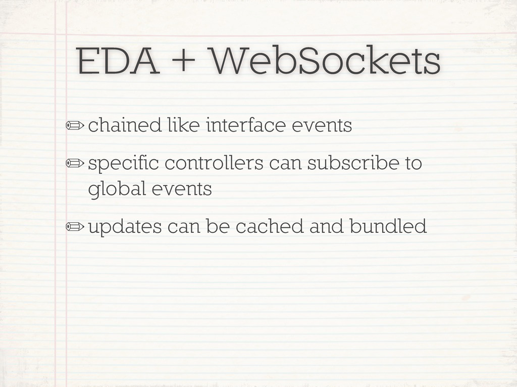 EDA + WebSockets ✏chained like interface events...