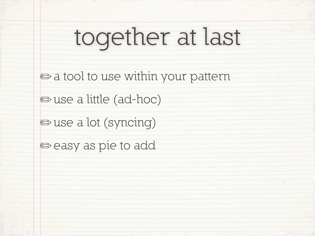together at last ✏a tool to use within your pat...