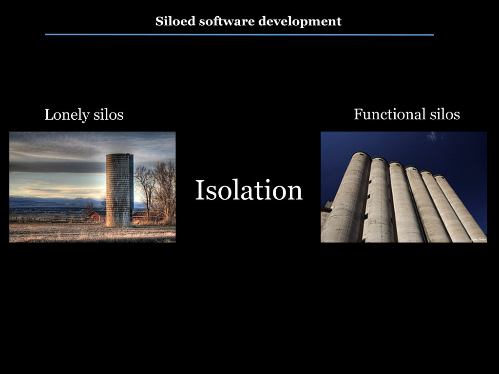 Siloed software development Isolation Lonely si...