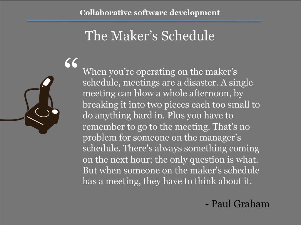 Collaborative software development The Maker's ...