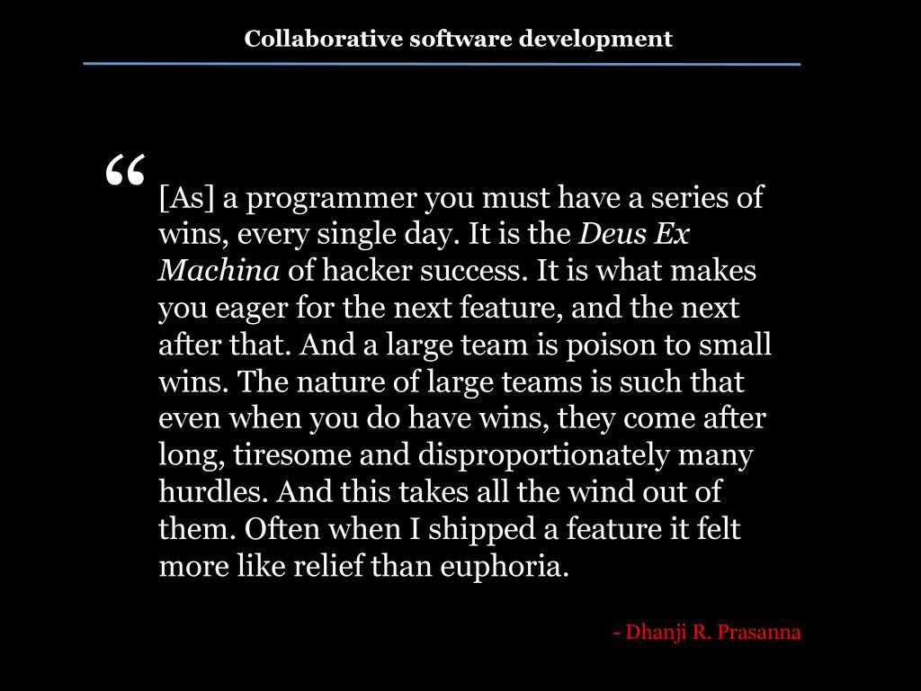 Collaborative software development [As] a progr...