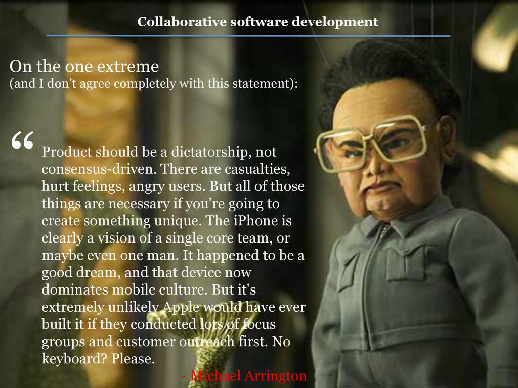 Collaborative software development Product shou...