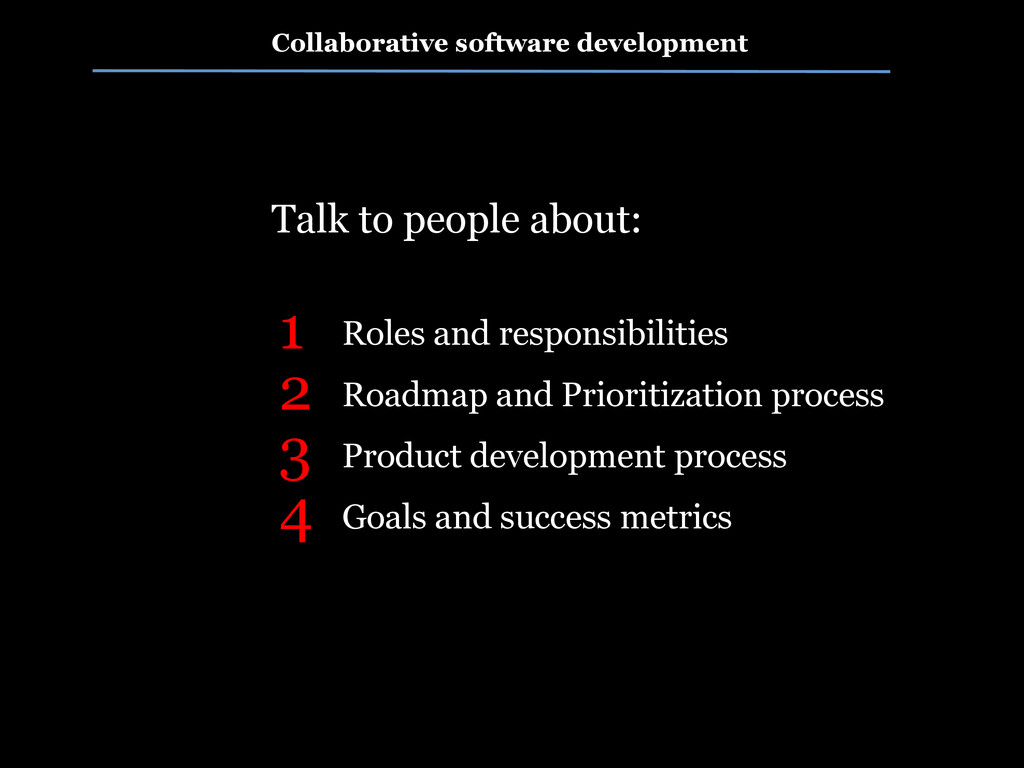 Collaborative software development Roles and re...