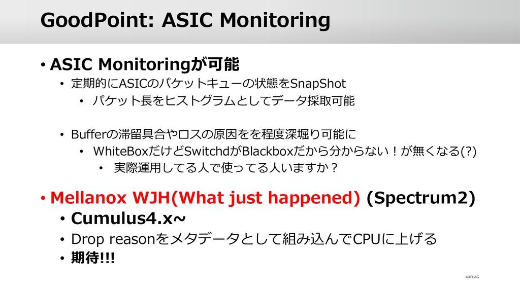 GoodPoint: ASIC Monitoring • ASIC Monitoringが可能...