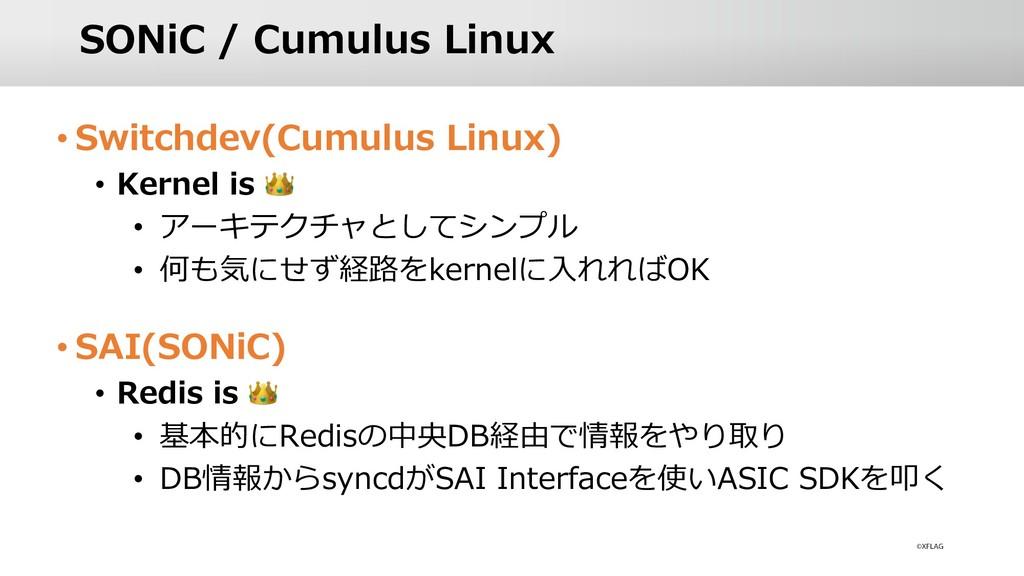 SONiC / Cumulus Linux • Switchdev(Cumulus Linux...
