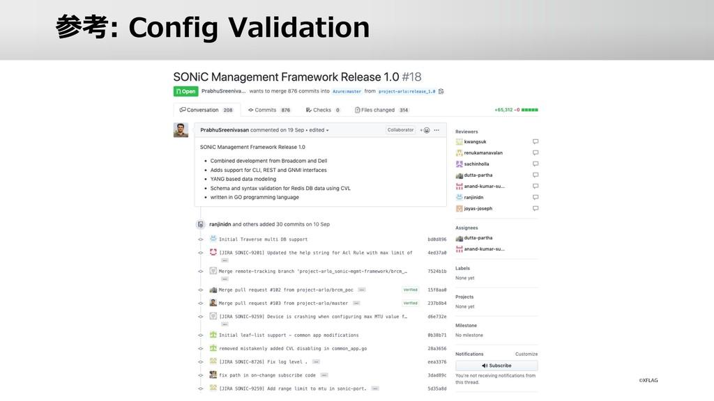 参考: Config Validation