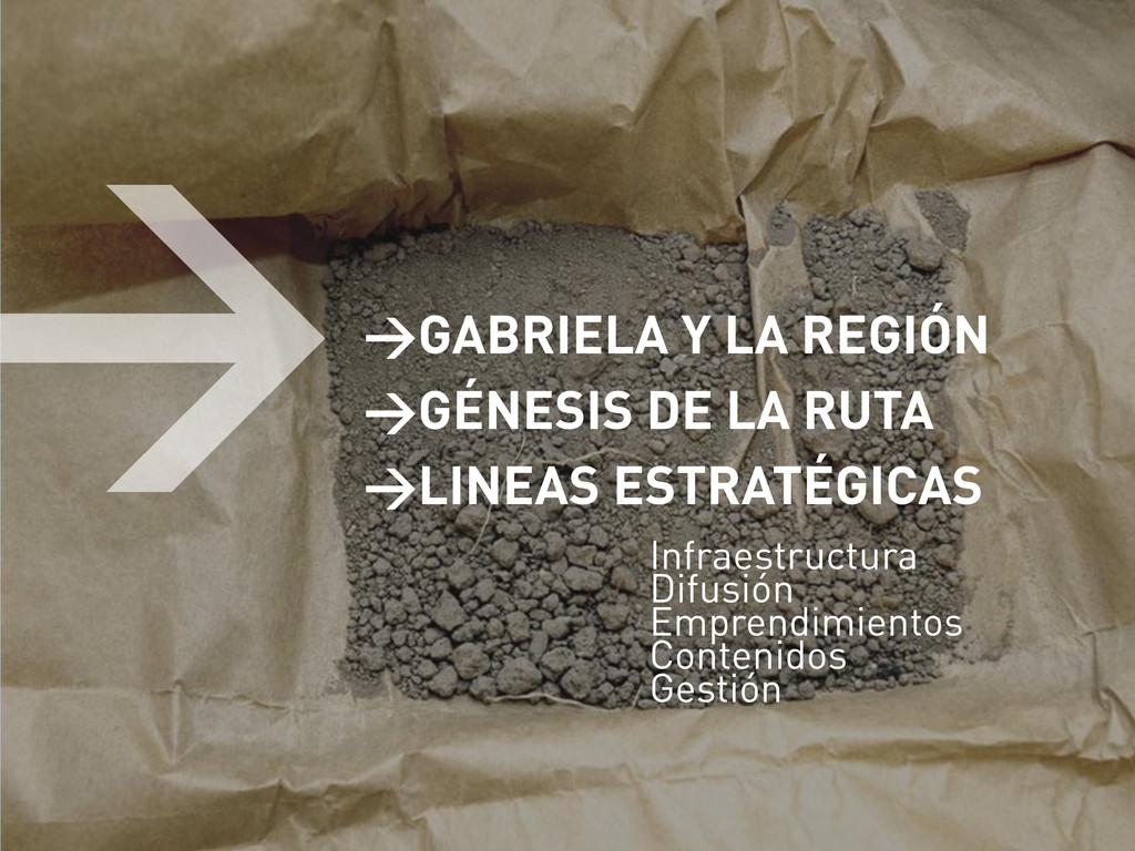 >GABRIELA Y LA REGIÓN >GÉNESIS DE LA RUTA >LINE...