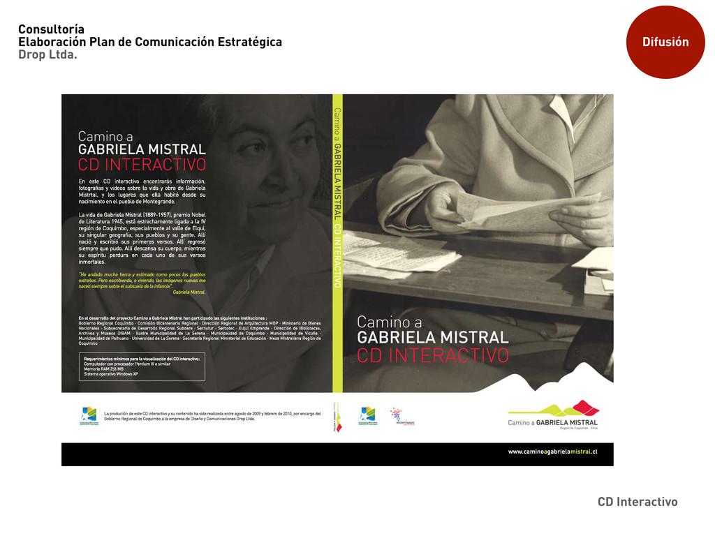 Difusión CD Interactivo Consultoría Elaboración...