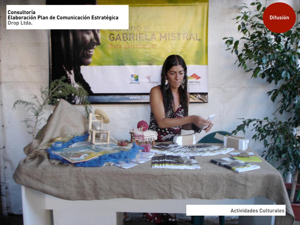 Actividades Culturales Difusión Consultoría Ela...