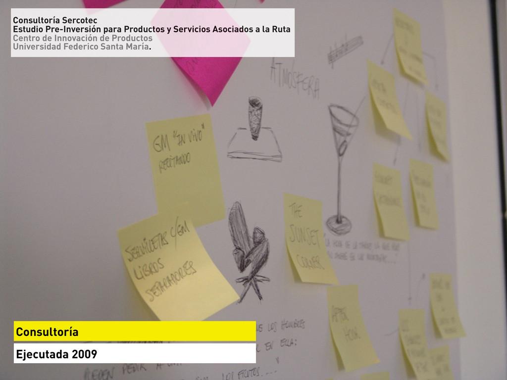 Consultoría Ejecutada 2009 Consultoría Sercotec...