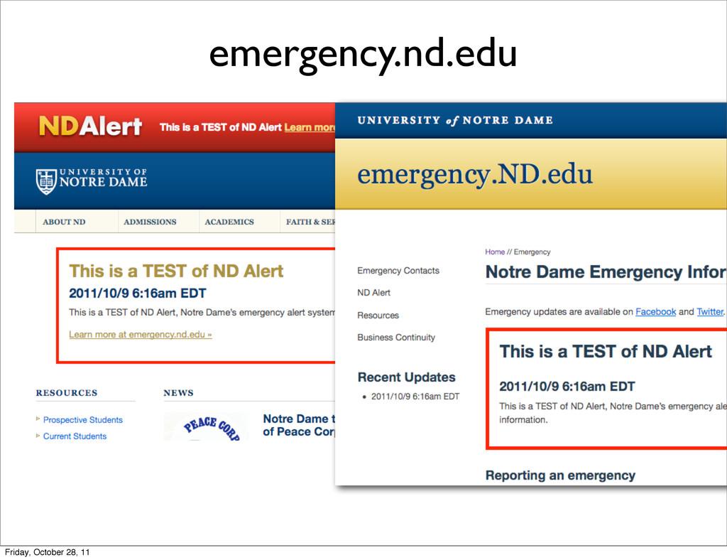 emergency.nd.edu Friday, October 28, 11