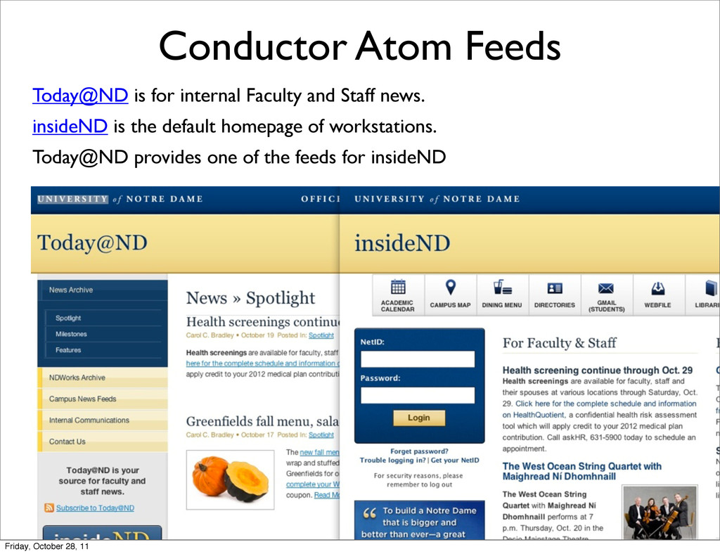 Conductor Atom Feeds Today@ND is for internal F...