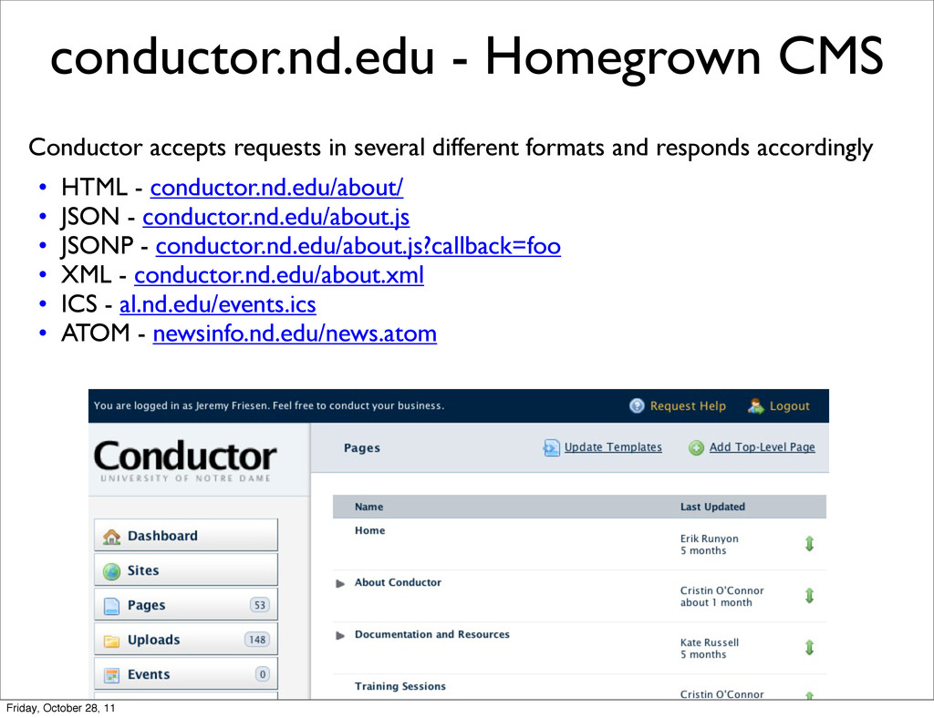 conductor.nd.edu - Homegrown CMS Conductor acce...