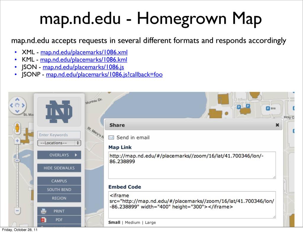map.nd.edu - Homegrown Map map.nd.edu accepts r...