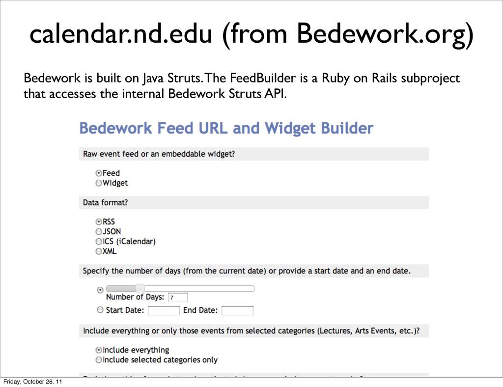 calendar.nd.edu (from Bedework.org) Bedework is...