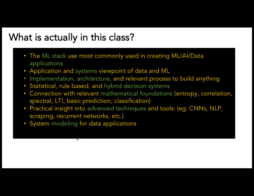 What is actually in this class? Common Open Sou...