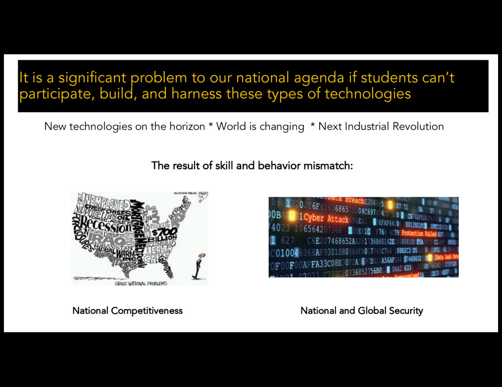 It is a significant problem to our national age...