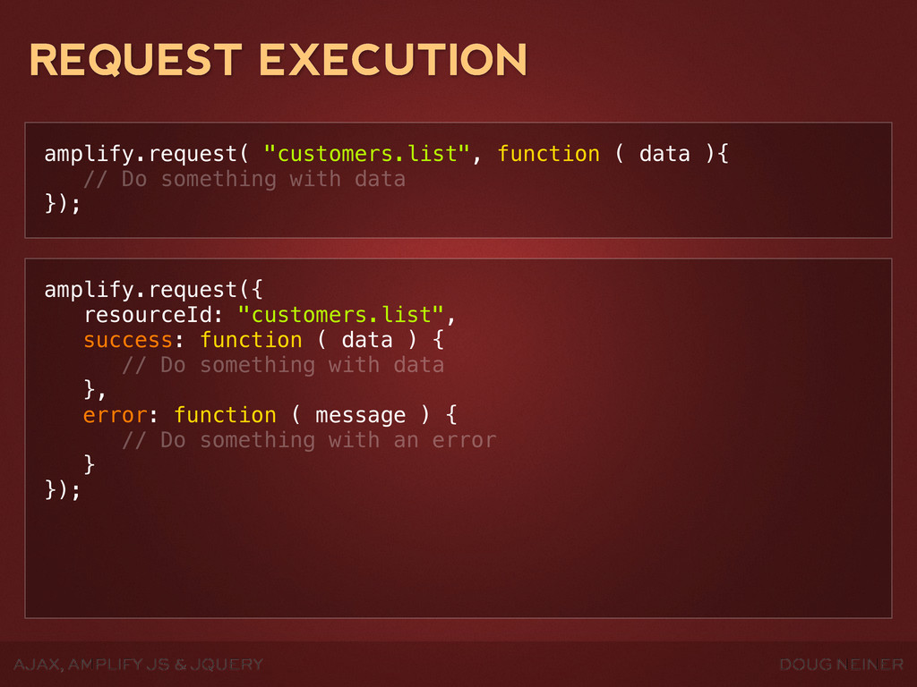 DOUG NEINER AJAX, AMPLIFY JS & JQUERY REQUEST E...