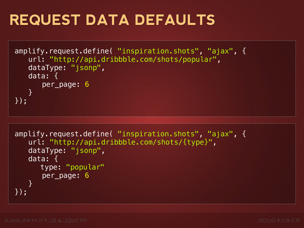 DOUG NEINER AJAX, AMPLIFY JS & JQUERY REQUEST D...